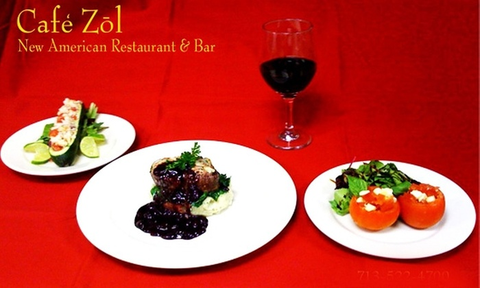 Cafe Zol - Houston: $20 for $50 Worth of New American Cuisine at Cafe Zol
