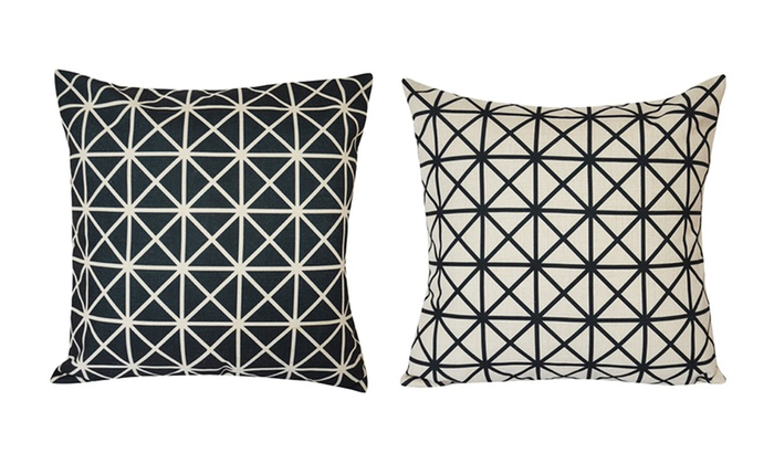 Lauren Taylor Geometric Feather Filled Cushions 2 Piece