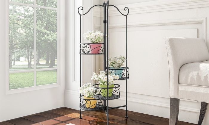 Up To 26 Off On Pure Garden Iron Plant Stands Groupon Goods