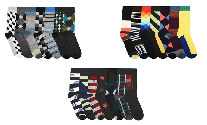 Lot de 7, 14 ou 21 paires de chaussettes multicolores pour homme, dès 11,99€