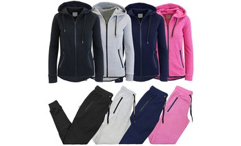 Women's Slim-Fit Tech Fleece Hoodie and Jogger Set (2-Piece)