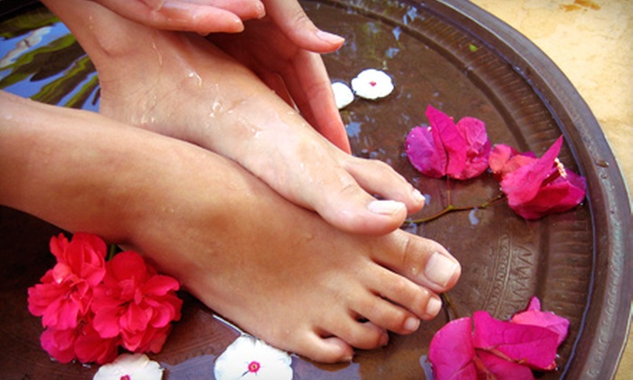 The Pedi Spa - South Plainfield: Signature Pedicure or Tea-Honey-and-Orange Pedicure with a Glass of Wine at The Pedi Spa (Up to 64% Off)