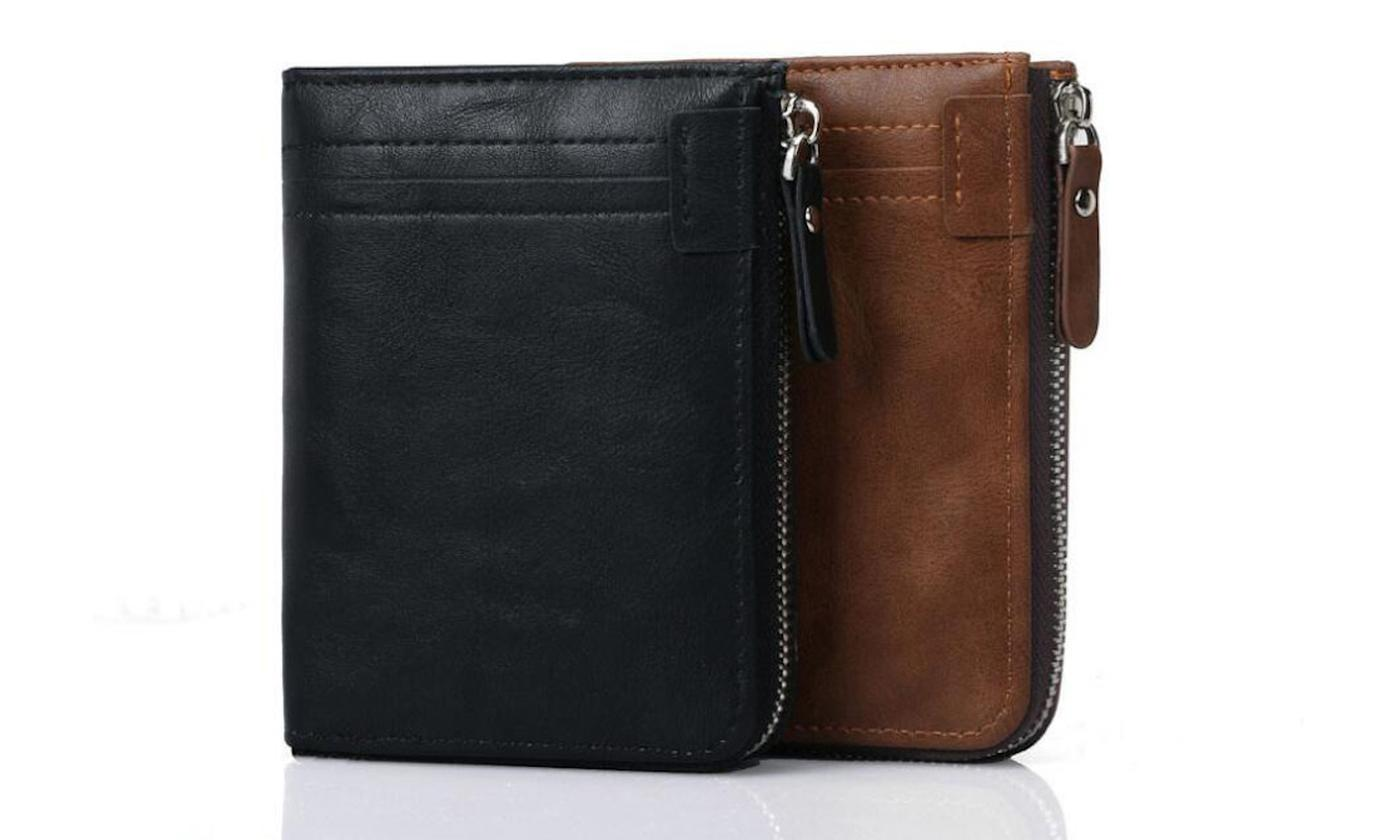 One or Two RFID Blocking Zip Wallets