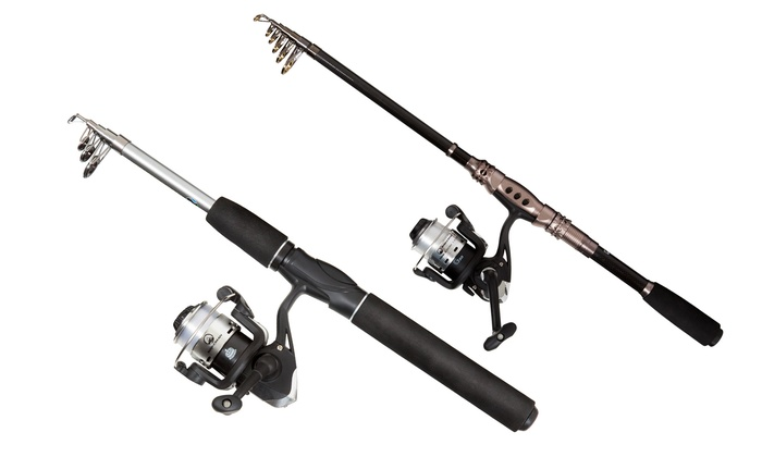 Wakeman telescopic fishing rod and reel combo livingsocial for Cheap fishing rods and reels combo