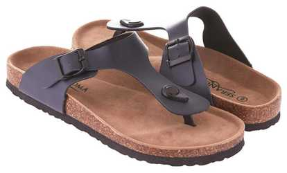 8eeb5d93f2d Shop Groupon Seranoma Women s Thong Slide-On Sandal with Cork Wedge Sole