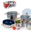 Stainless Steel Non-Stick Cookware Set (12-Piece)