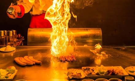 11Dish Teppanyaki Feast Osaka $88 or Sapporo Set with Lobster Tail $108 for Two at Aya Teppanyaki Up to $207.40