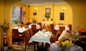 """Aux 9 Tilleuls: Un menu """"Gourmand"""" en 3 services pour 2 ou 4 personnes dès 39,99 € au restaurant Aux 9 Tilleuls"""