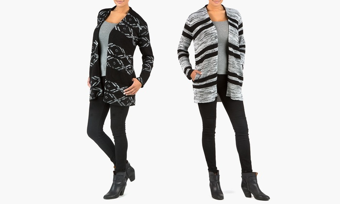 Sociology Women's Chunky Pattern Cardigan | Groupon Exclusive