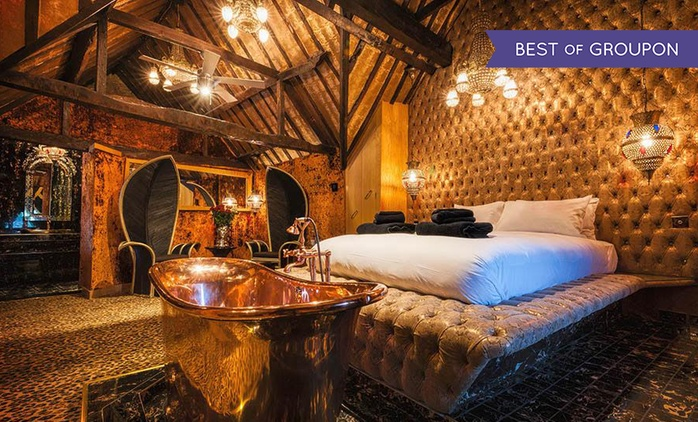 Crazy Bear Hotel Break for Two with Champagne, Three Course Dinner and Breakfast from £229 (64% off)