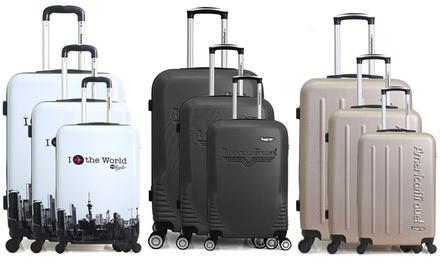 Set di 3 trolley disponibili in 3 modelli e vari colori