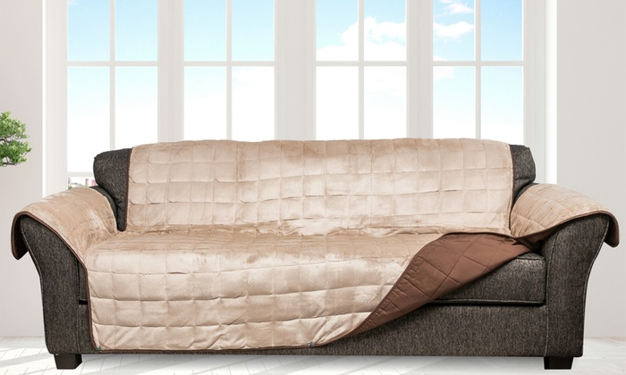 Up To 58 Off On Heavy Flannel Furniture Cover Groupon Goods