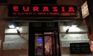 Eurasia Grill: Buffet asiatique à volonté pour 1, 2, 3 ou 4 personnes dès 12 € au restaurant Eurasia Grill