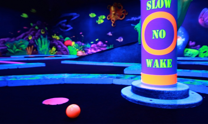 Glow in the Dark Mini Golf for Two, Four, or Six, or VIP Package for Two or Four at GlowZone 360 (Up to 54% Off)