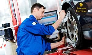 Mara-Car Centro Automotivo: Alinhamento, balanceamento, check-up e revisão (opção com higienização de ar) no Mara-Car Centro Automotivo – Centro