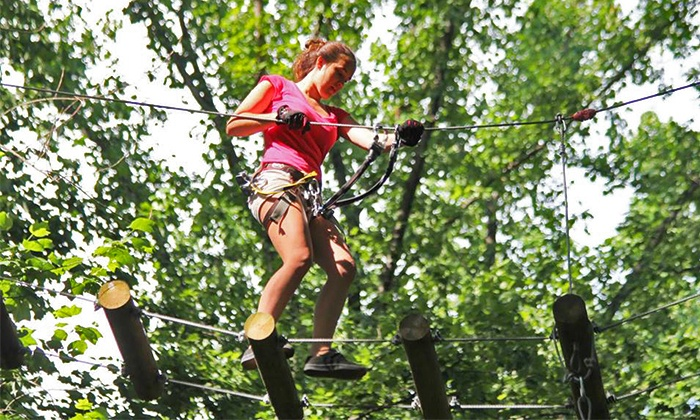 The Adventure Park at Storrs - Mansfield: $22 for a Climbing and Ziplining Experience for One at The Adventure Park at Storrs ($38 Value)