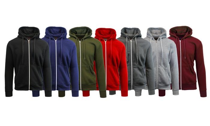 Men's Fleece Zip-Up Hoodies (2-Pack)