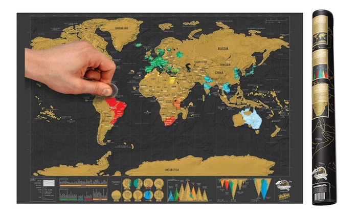World scratch map groupon new zealand trading solutions personalised world scratch map one 19 or two gumiabroncs Choice Image