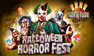 Movie Park Germany: Halloween Horror Fest am Sa., 29.10.2016, optional mit Burger-Menü, im Movie Park Germany (bis zu 35% sparen)