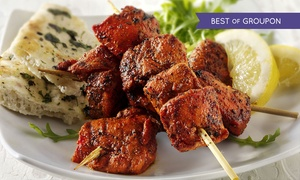 The Red Fort Lark Lane: Three-Course Indian Meal with Wine for One, Two or Four (Up to 48% Off)