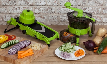 Tower Health AllinOne Mandoline Slicer and Tower Health Spudnik Spiralizer for £29.99 With Free Delivery