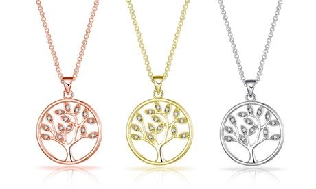 1, 2 ó 3 collares colgantes del árbol de la vida de Philip Jones con cristales de Swarovski®