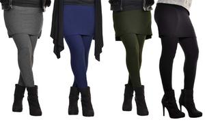 Angelina Women's Stretchy High-Waist Skirted Leggings