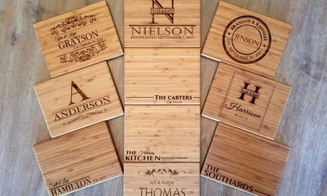 "One, Two, or Three 6""x8"" Personalized Bamboo Cutting Boards from Qualtry (Up to 86% Off) fddae98d-d781-4727-a515-3b055119a89a"