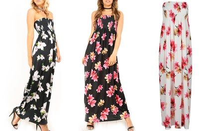 Bejealous Bandeau Floral Maxi Dress available Up to Size 22