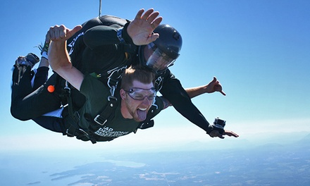 C$259 for One Tandem Skydive for One with Video and T-Shirt at Skydive Vancouver Island (C$425 Value)