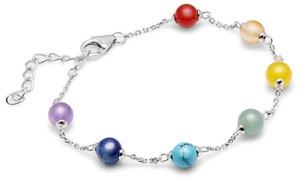 Bracelet Argent et pierre semi precieuses