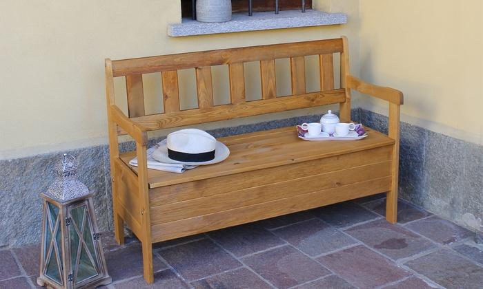 Panca Contenitore Legno : Fino a 25% su panca in legno groupon