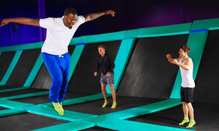 FiveHour Trampoline Park Session: One $19, Two $36 or Four People $70 at Flip Out Derrimut Up to $264 Value