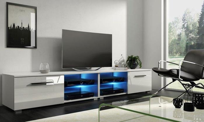 Meuble tv simple ou double groupon shopping - Meuble tv simple ...