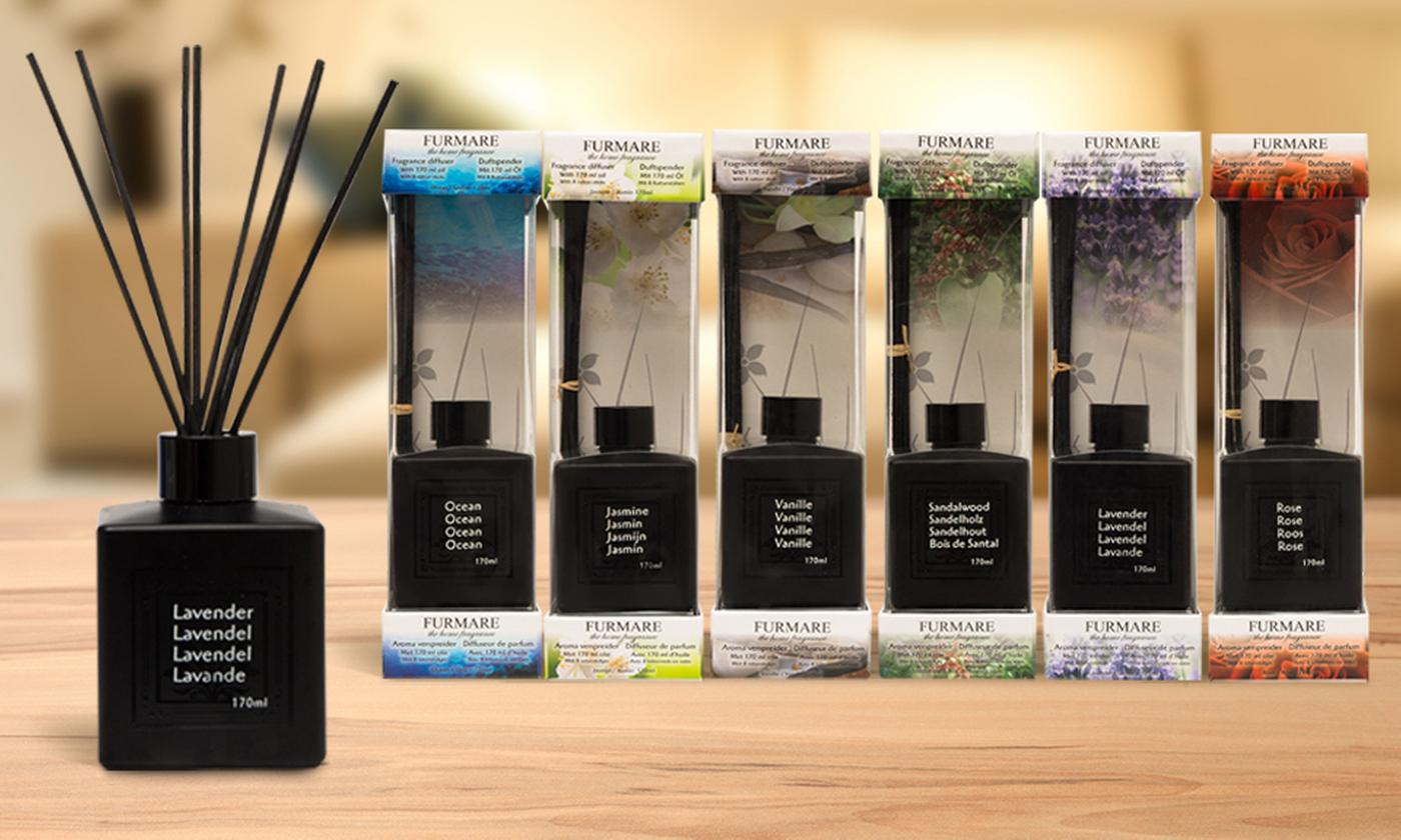 One, Two, Three or Four Furmare Fragrance Reed Diffusers