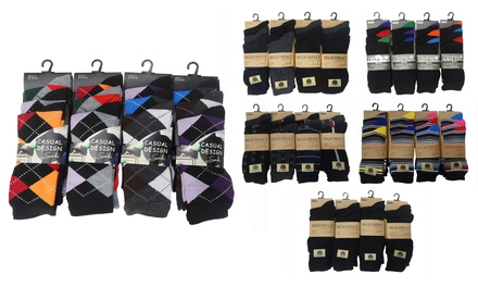 12 (£6.95), 24 (£10.99) or 36 (£14.99) Pairs of Men's Socks in Choice of Designs
