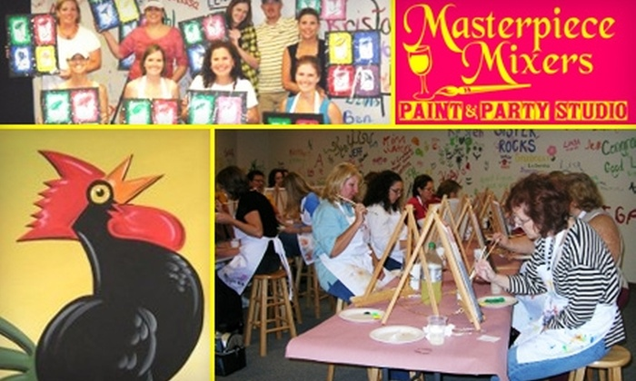 Masterpiece Mixers Paint & Party Studio  - Multiple Locations: $10 for a Two-Hour Painting Class at Masterpiece Mixers Paint & Party Studio (Up to $25 Value)