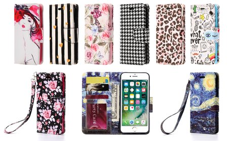 Wallet Case for iPhone 6/6S or 7/7 Plus