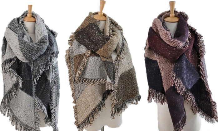 One or Two Oversized Fashion Scarves in Choice of Colour from £10 (Up to 72% Off)