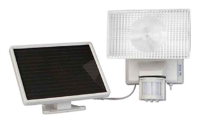 Maxsa Solar-Powered 30W Halogen Security Floodlight