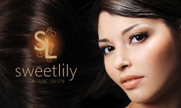 Sweet Lily Organic Salon - Adams: $40 for $95 Worth of Women's Hair Services or $20 for $40 Worth of Men's Hair Services at Sweet Lily Organic Salon