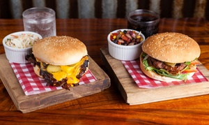 Original Dave's Low Slow BBQ: Choice of Burger & Drink for Lunch: Two ($20) or Four People ($40) at Original Dave's Low Slow BBQ (Up to $82Value)