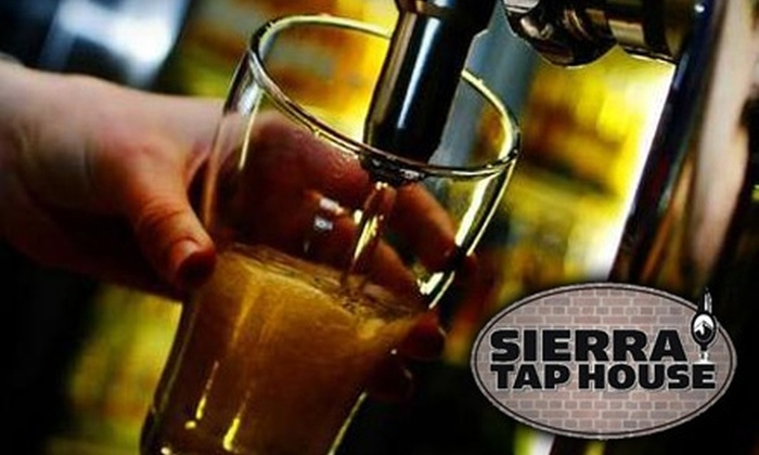 Sierra Tap House - Downtown Reno: $10 for a Trek Through the Sierras (Four 12-Ounce Sierra Nevada Beers) at Sierra Tap House ($20 Value)