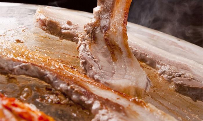 黒門豚美人 - 黒門豚美人: 【2,600円】旨味格別。余分な脂を落としてヘルシーに≪サムギョプサル食べ放題(12品)+ポッサム+飲み放題/120分≫ @黒門豚美人