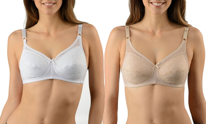 Groupon Goods: 2-Pack Wire Free Bras (Shipping Included)