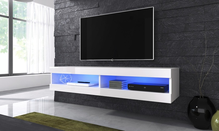 Off White Tv Meubel.Up To 53 Off Volant Floating Tv Cabinet Groupon
