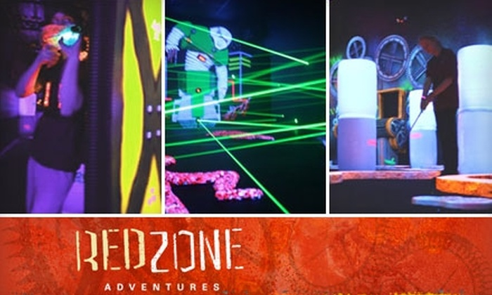 Red Zone Adventures - Lutherville - Timonium: $9 for Two Rounds of Laser Tag, One Round of Urban Golf, and Two Turns in the Laser Maze at Red Zone Adventures in Timonium