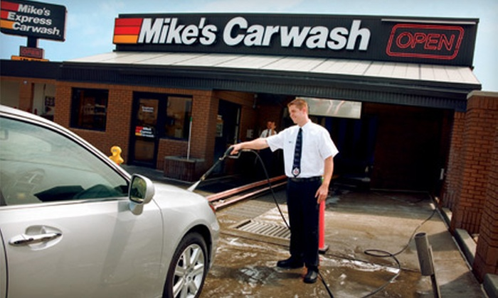 "Mike's Carwash - Multiple Locations: $20 for Three ""The Works"" Car Washes at Mike's Carwash ($45 Value)"