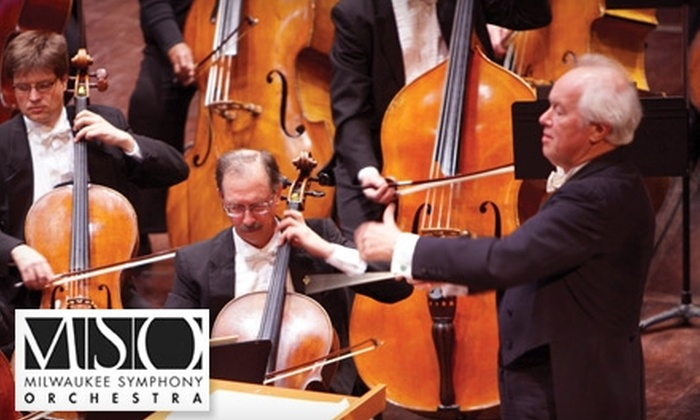 "Milwaukee Symphony Orchestra - Juneau Town: $25 for a Premium Orchestra Ticket to Milwaukee Symphony Orchestra's Performance of Beethoven's ""Eroica"" at Uihlein Hall on Friday, March 4 or Saturday, March 5 (Up to $58 Value)"