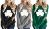 Leo Rosi Women's St. Patricks Day Shamrock Top. Plus Sizes Available.